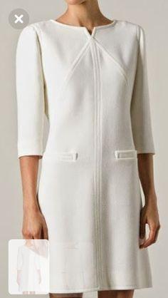 Day Dresses, Casual Dresses, Fashion Dresses, Dresses For Work, Frock Patterns, Iranian Women Fashion, Batik Dress, Classy Casual, White Fashion