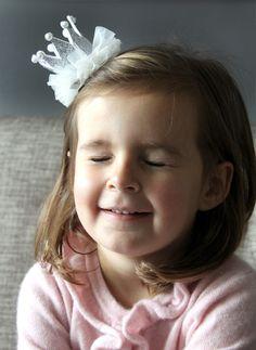 Princess Crown Hair clip - Silver - Hello Alyss Exclusive