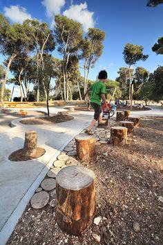 Terrain de jeux par BO Landscape Architects Playground by BO Landscape Architect Park Landscape, Landscape Plans, Urban Landscape, Canada Landscape, Nature Landscape, Desert Landscape, Landscaping Tips, Garden Landscaping, Landscaping Melbourne