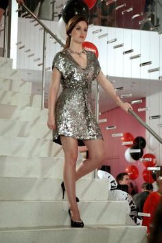 As Blair Waldorf, Leighton Meester rocked some epic party dresses on Gossip Girl (including this sparkly silver mini). Come see similar styles we want to shop NOW