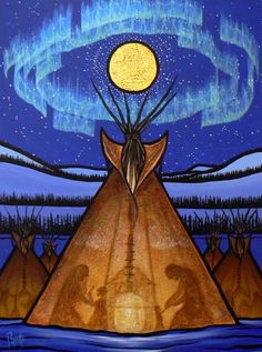 40 Best Native American Paintings and Art illustrations - Buzz 2018 Inuit Kunst, Arte Inuit, Inuit Art, Native American Paintings, Native American Artists, Indian Paintings, Art Paintings, Native American Drawing, Abstract Paintings