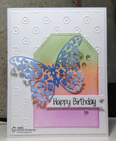 Just Me: c: Floral Birthday Butterfly...Tag You're It Challenge #47, Serendipity Stamps Challenge Blog #55~Use A Die