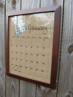 Reusable calendar -use just a frame and dry erase markers