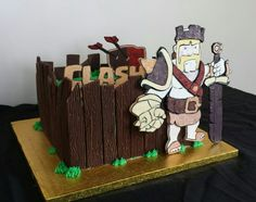 Barbarian king cake Barbarian King, Clash Of Clans, Birthday Cake, Birthday Cakes, Cake Birthday