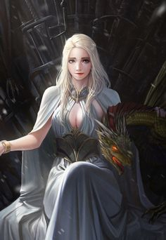 ⚔️🐲 Queen Daenerys Targaryen 🐉⚔️ on We Heart It Character Design Cartoon, Fantasy Character Design, Character Inspiration, Character Art, Fantasy Art Women, Beautiful Fantasy Art, Fantasy Girl, Fantasy Characters, Female Characters
