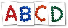 Modèles lettres avec des bouchons