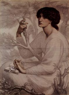Study for The Daydream by Dante Gabriel Rossetti (1878)