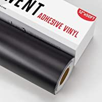Yrym Ht Black Permanent Adhesive Vinyl Roll 12 X 50 Ft For Signs Scrapbooking Adhesive Vinyl Sheets For Cri In 2020 Adhesive Vinyl Sheets Adhesive Vinyl Vinyl Rolls