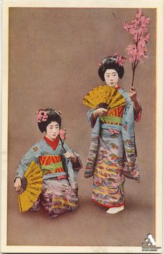 Odori - Miyako - Maiko / Vintage Postcard