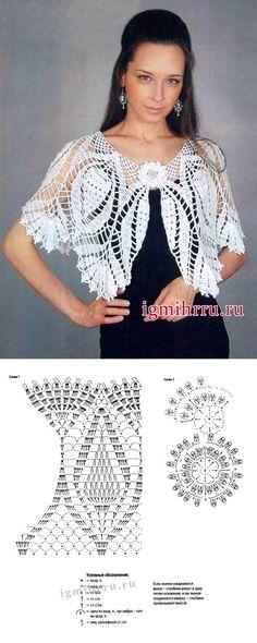 Fabulous Crochet a Little Black Crochet Dress Ideas. Georgeous Crochet a Little Black Crochet Dress Ideas. T-shirt Au Crochet, Cardigan Au Crochet, Crochet Bolero, Pull Crochet, Crochet Cape, Black Crochet Dress, Crochet Collar, Crochet Shirt, Crochet Jacket