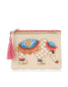 Beaded Elephant Purse