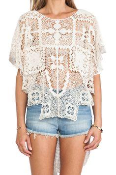 Crochet lace top