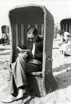 Read on the beach