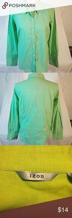 I just added this listing on Poshmark: Green Izod button-down top. Size XL. #shopmycloset #poshmark #fashion #shopping #style #forsale #Izod #Tops