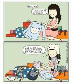 Que regalos les llegan a los amantes de gatos