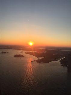 Sonnenuntergang über New York