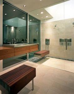 suspended shower bench
