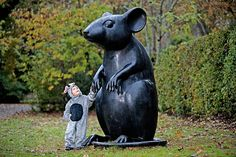 """Robert Burns Birthplace Museum     (""""Kenny Hunter's 7ft cast iron sculpture 'Monument to a Mouse' which is installed on the Poet's Path in the museum grounds"""")"""