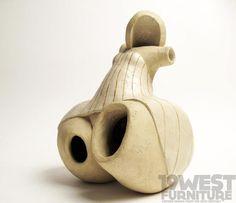 """A ceramic sculpture, signed """"ODRE 1986""""."""