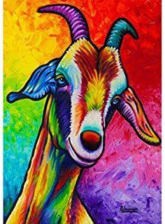 Billy the Abstract Goat - Steven Schuman Goat Paintings, Animal Paintings, Animal Drawings, Art Drawings, Hirsch Illustration, Goat Picture, Goat Cartoon, Graffiti, Goat Art