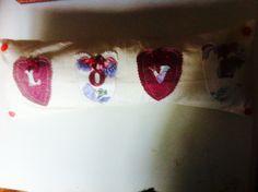 Love appliqué cushion