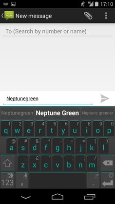 Neptune Green theme for SwiftKey Keyboard for Android. Get it now on the SwiftKey Store!