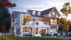 CREO HOMES have most experienced and professional interior designers and architects in Kochi(Cochin),Kerala. Our team of engineers and architects are highly talented and enthusiastic about building the perfect home for you at its best. Modern House Facades, Modern Exterior House Designs, Dream House Exterior, Modern House Design, New House Plans, Dream House Plans, Modern House Plans, House Outside Design, House Front Design