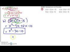 Matematik 5000 Ma - Kapitel 2 - Algebra och ickelinjära modeller (all. Algebra, Youtube, Youtubers, Youtube Movies