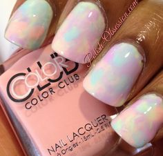 Watercolor manicure #nailart