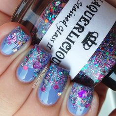 A glitter gradient is a great way to use your indie glitters!