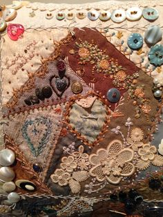 Detail of Crazy Coffee and Cream by Robyn Ginn