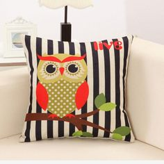 RUBI Lovely Owls Cushion Without Inner Polyester Home Decor Sofa Car Seat Decorative Throw Pillow Hot Sale