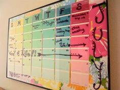 DIY Wipe-off Lilly Pulitzer Monthly Calendar