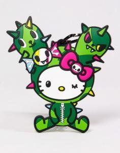 Retired Limited Edition 2013 tokidoki x Sanrio Characters Luggage Tag - Hello Kitty x Cactus Friend (Sandy)
