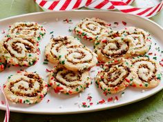 Make a cherry, pistachio and brown sugar filling for Jeff Mauro's take on a classic pinwheel cookie.