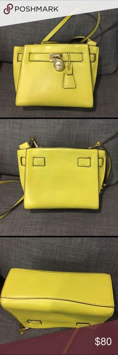 MK Michael Kors Crossbody/Sling Purse Gently used green crossbody/sling purse. No scratches or stains. Michael Kors Bags Crossbody Bags