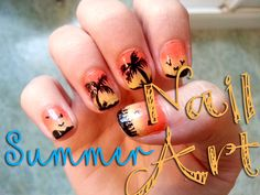 Summer nails! Degradado + palmeras!! ✿Little things