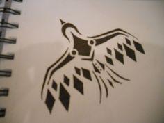 tribal bird tattoo by mikaylamettler on DeviantArt