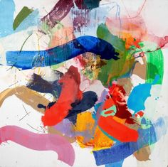 """Dorothy Goode, """"Paintings I Wrote on in 2009, #1"""", Mixed Media on Board, 30x30 - Anne Irwin Fine Art"""