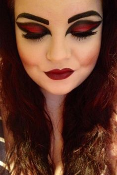 Maquillaje Para El Dia De Muerto Make Up Pinterest Halloween - Como-maquillar-a-una-diabla