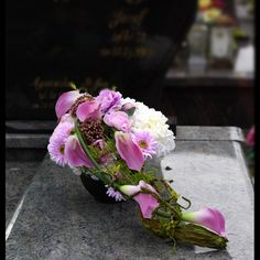 Funeral Flower Arrangements, Funeral Flowers, Floral Arrangements, Giant Paper Flowers, Gerbera, Ikebana, Floral Wreath, Wreaths, All Saints Day