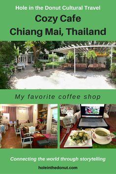 Cozy Cafe coffee shop, Chiang Mai, Thailand via @holeinthedonut