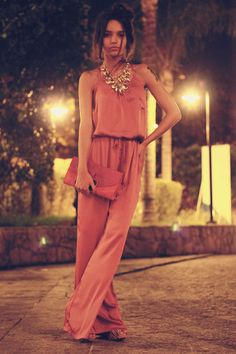love love love this jumpsuit - so flowy yet perfect with heels!
