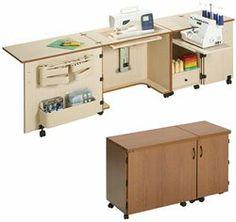 Sylvia Design Model 1050 Sewing & Serger Cabinet - http://www.sewingmachinereveiws.com/sylvia-design-model-1050-sewing-serger-cabinet/
