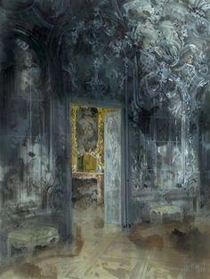 Jeremiah Goodman - Nymphenburg Palace Park, Silver Room, Amalienburg Pavillion, Austria [2000]