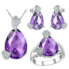 Virgin Shine Platinum Plated Rhinestones Hearts Drop Jewelry Sets Purple VIRGIN SHINE http://www.amazon.com/dp/B00L149WBW/ref=cm_sw_r_pi_dp_cGeLub1ZN6ZSH
