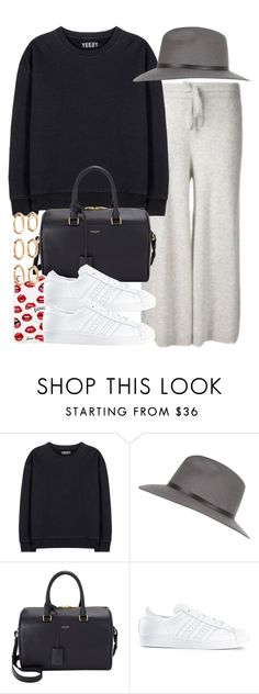 """""""Sin título #3736"""" by hellomissapple on Polyvore featuring moda, adidas Originals, River Island, Yves Saint Laurent, Sonix, adidas y Forever 21"""