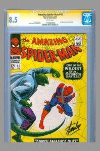 The Amazing Spider-Man #45 - a classic John Romita, Sr. cover. #amazingspiderman #stanlee #cgcss