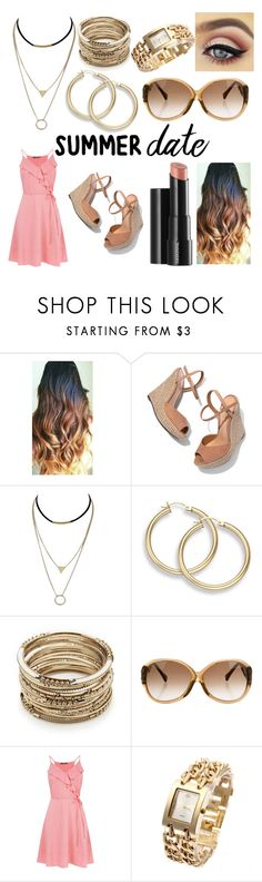 """""""Summer Date!"""" by flyingtigers101 ❤ liked on Polyvore featuring Arbonne, Schutz, Sole Society and Louis Vuitton"""