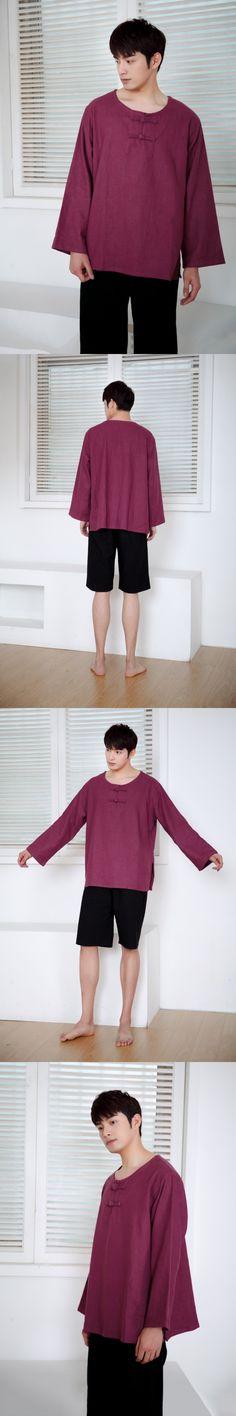 Tang suit Jacket Wu Shu Tai Chi Clothing shaolin kung fu wing chun shirt Long Sleeves Exercises costume loose men tops  M-XL